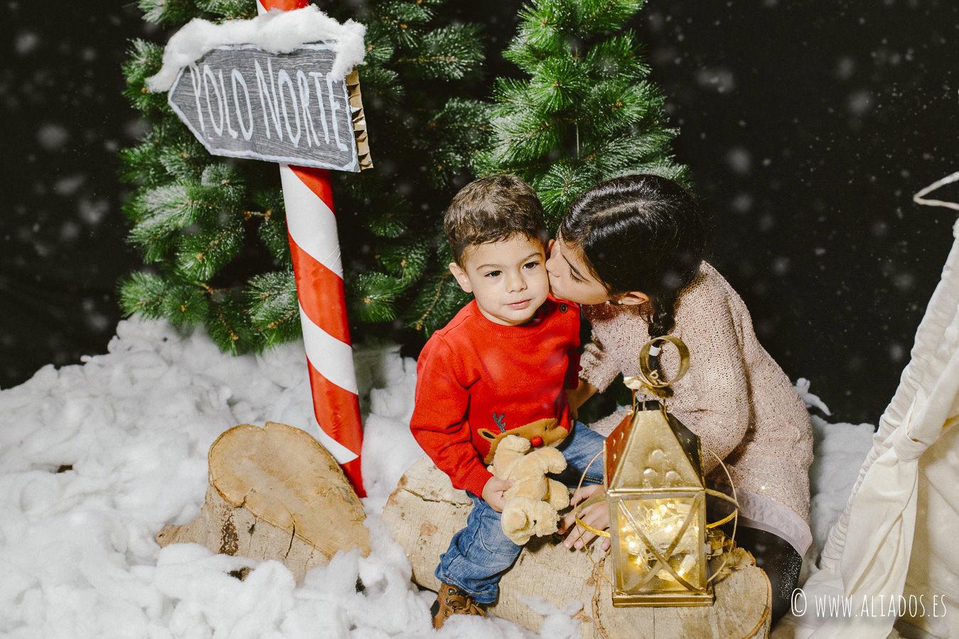 fotografia de Navidad hermanos